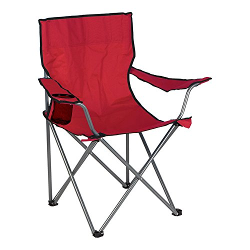 Aktive - Silla plegable de camping, color rojo, 52 x 52 x 88 cm (ColorBaby 85280)