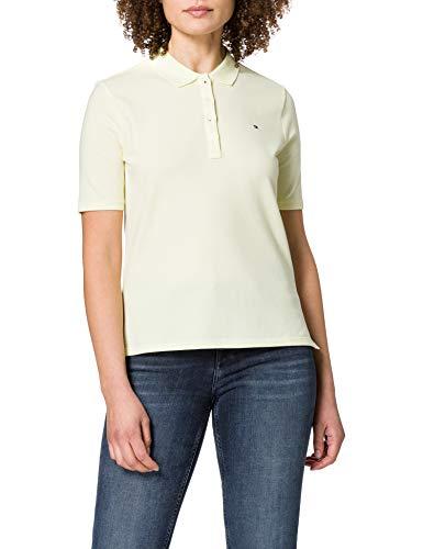 Tommy Hilfiger TH Essential REG Polo SS Camiseta sin Mangas para bebés y niños pequeños, Amarillo, XS para Mujer