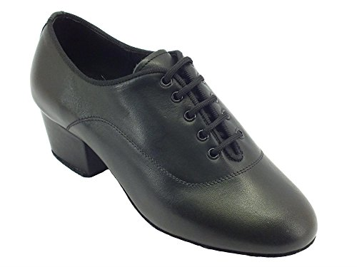 Vitiello Dance Shoes Classic Latino Nero Ragazzo, Jungen Tanzschuhe, schwarz - schwarz - Größe: 35 EU