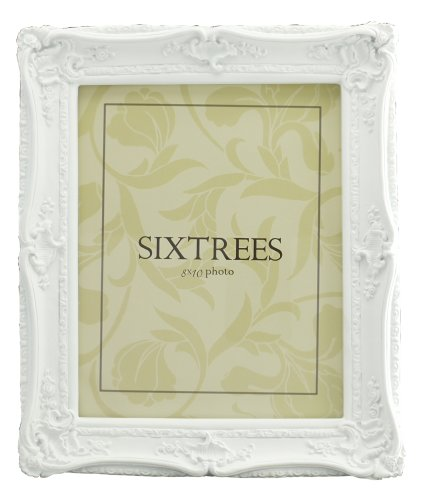 Shabby Chic Style Very Ornate White Photo Frame for 10'x8' (254x203mm) Pictures