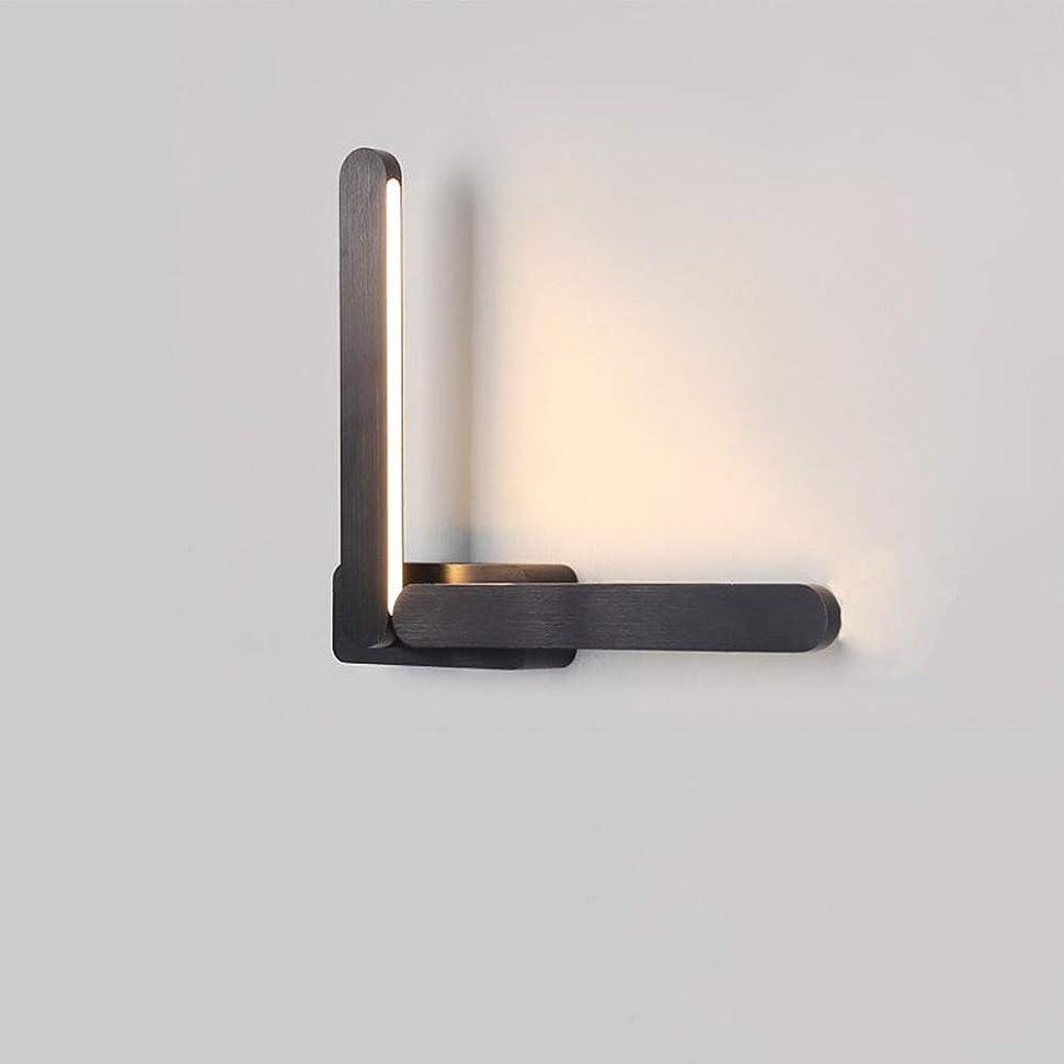 文句を言う抽出パプアニューギニアZBJJ 現代のledウォールランプインテリアブラックアルミ壁照明ニュートラルライト12ワットスイベルと調節可能な取り付け用燭台2ライト用リビングルーム寝室ダイニングルーム子供部屋