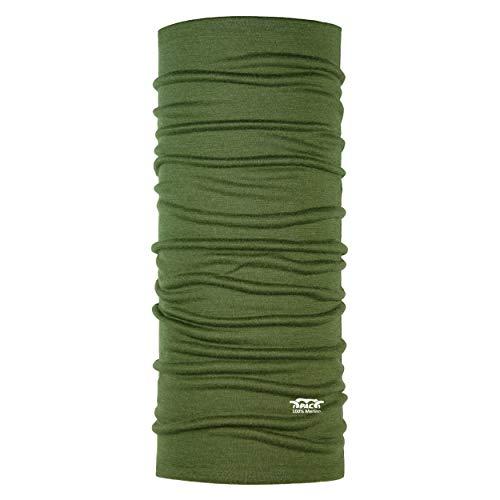 P.A.C. Merino Wool Jagd Multifunktionstuch - Merinowoll Schlauchtuch, Halstuch, Schal, Kopftuch, Unisex, 10 Anwendungsmöglichkeiten