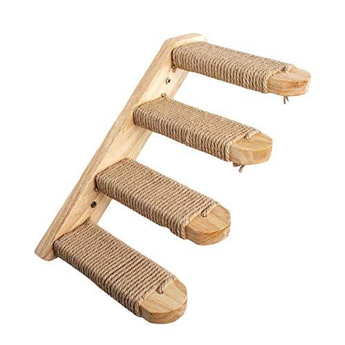 Piaoliangxue 4 Stufen Wandtreppe für Katzen - Haustreppen für Haustiere - Treppenstufen für Katzentreppen - Wandmöbel für Katzen aus Holz - Katzenkratzbaum - Zum Klettern Schleifen und Trainieren (B)