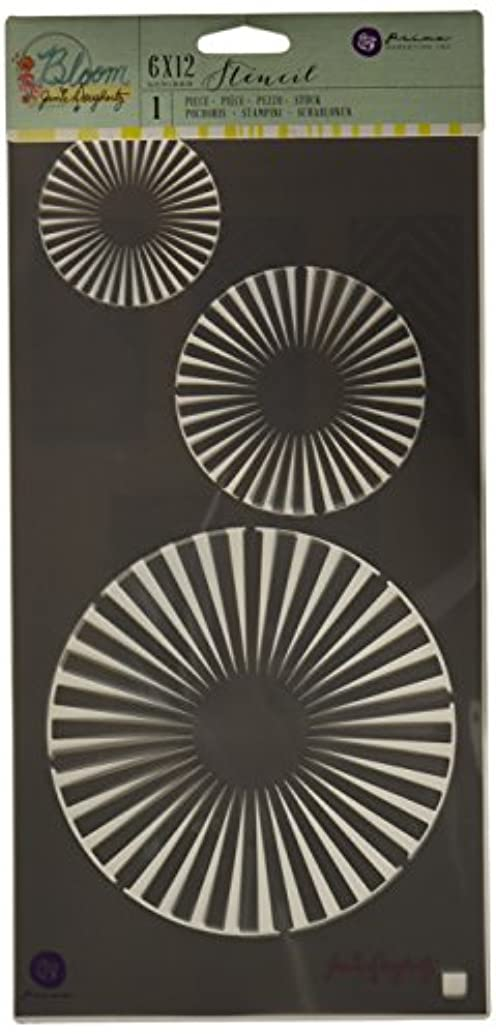 Prima Marketing BLSTN612-80429 Circles Jamie Dougherty Bloom Stencil, 6 x 12