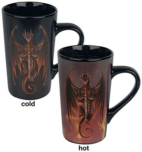 Tasse, Latte, wärmewechselnd, 500 ml, Anne Stokes (Drachen)