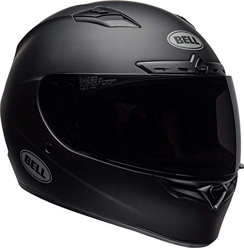 Bell Qualifier DLX Blackout Street Motorcycle Helmet (Blackout Matte Black, Medium)