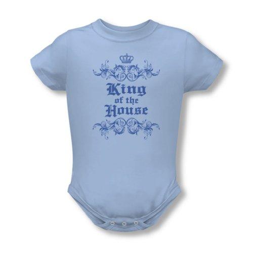 King Of The House - Onesie En Bleu clair, 6 Months, Light Blue
