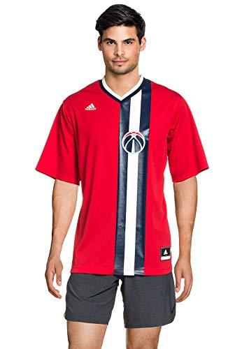 adidas Camiseta, Hombre, Rojo/Blanco/Azul (NBA Washington Wizards 4 3W4), S