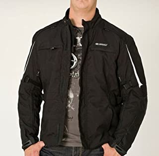 Yamaha OEM Men's Port Tex Jacket. Long Cut. Water Resistant. Reflective Material Throughout. Cotton Canvas. Star Logo on Back. STR-11JPR-BK
