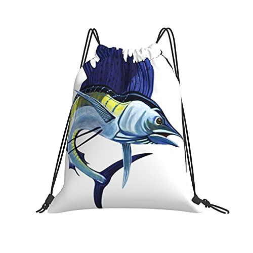 Sailfish Rucksack mit Kordelzug, für Sport, Fitnessstudio, Wandern, Yoga, Schwimmen, Reisen, Strand, für Damen und Herren - Weiß - Einheitsgröße