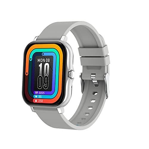 H20 Wireless Smartwatch Sport Fitness Pulsera Full Touch Pulsera Cuadrada Gris Plateado
