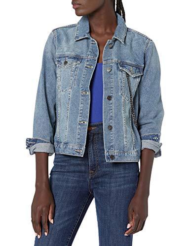 Armani Exchange Denim Jacket Chaqueta, Indigo Azul Vaquero, S para Mujer