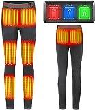 SKYWPOJU Pantalón calefactable USB 5V Recargable, pantalón Calefactor eléctrico para Invierno al Aire Libre, pantalón Calefactor con 8 Zonas calefactoras, Hombres/Mujeres (Color : Gray, Size : L)