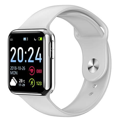FXMJ Smartwatch con Llamada Bluetooth, Pulsera Actividad con Pantalla Táctil De 1.3'para Hombres Y Mujeres, ECG, Frecuencia Cardíaca, Presión Arterial, Oxígeno En Sangre, Fitness Tracker,Blanco