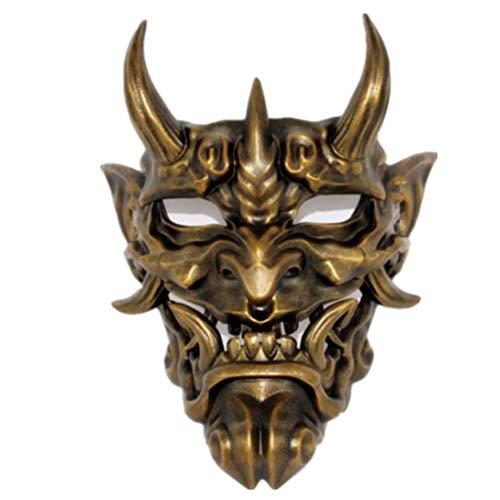 YC Horror Ghost Face Mask, Adult Fancy Dress Party Party Cosplay Dress Up Disfraces, Los Cdigos Unisex Son Adecuados para Todo Tipo De Emociones para Varias Ocasiones,Oro