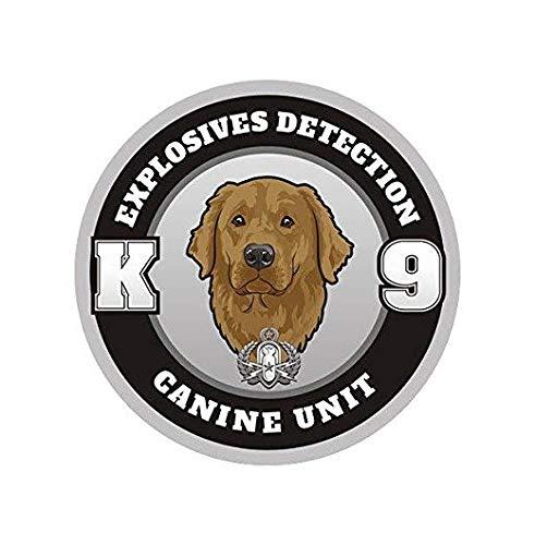 Golden Retriever Explosives Detection Bomb Dog 3' Decal K-9 Gloss Vinyl Sticker