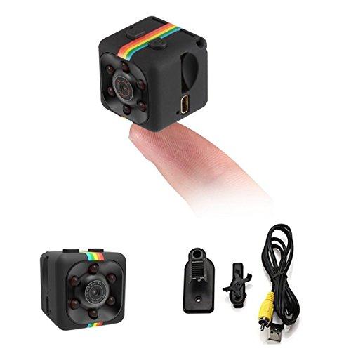 SODIAL Camara Vision nocturna Grabador de video 1080P HD portatil pequeno con Camara de vision nocturna y Deteccion de movimiento para DV grabador de video, Vigilancia de FPV, hogar y oficina