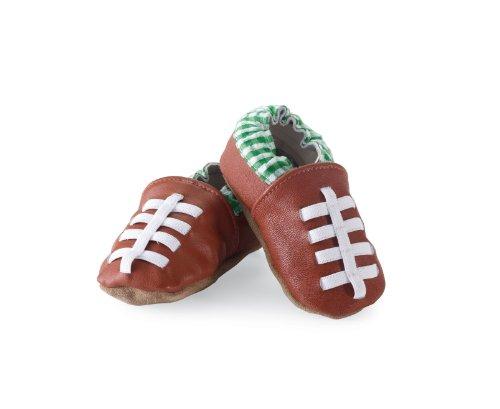 Mud Pie Baby-Boys Newborn Football Shoe Socks, Brown, 0-6 Months