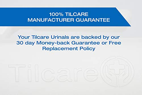 Urinals for Men by Tilcare (3 Pack) - 32oz/1000mL Thick Plastic Mens Bedpan Bottle with Screw-on Lid - Spill Proof Urinary Chamber - Male Portable Pee Bottles - Travel Urine Collection Containers