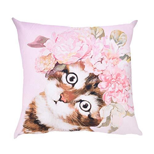 OYSOHE Katze Kissenbezug Dekoration Auto Sofa Schlafzimmer Kissenbezug,Waschbar,45x45cm (Einheitsgröße, K)