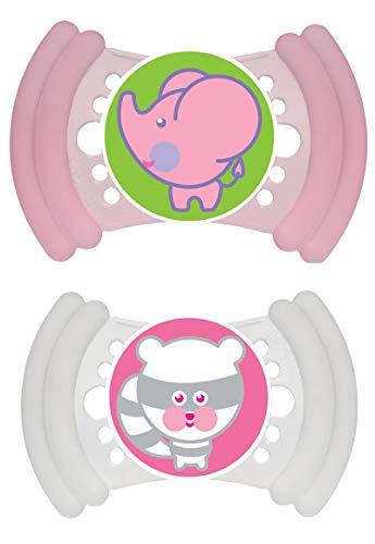 MAM 301722 - Soft Silikon 6-16, Schnuller, für Mädchen, Doppelpack, farblich sortiert - BPA frei