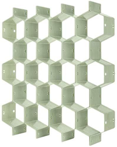 WESD Organizador de cajón ajustable con 18 compartimentos con forma de panal de abeja, separador de almacenamiento para ropa interior y divisor de cinturón, color verde