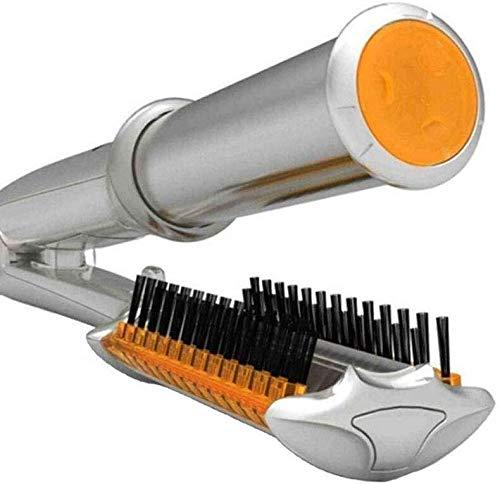 Secador de pelo y rizador de un paso 220V 2en1 LCD giratoria de Curling y enderezar hierro iónico del aire caliente cepillo eléctrico automático Styler hierro que se encrespa de cerámica del c