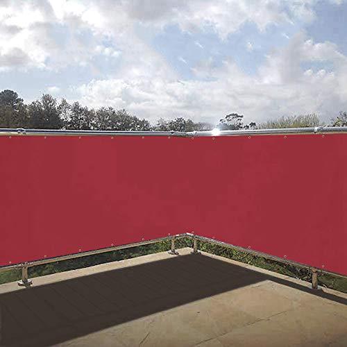 HRUI - Gartensichtschutz in Rot, Größe 75x1000cm