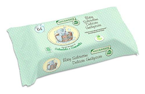 Naturaverde Bio - Prodotto per Neonato e prima infanzia - Salviettine Ultra Soft - 64 Pezzi - [confezione da 7]