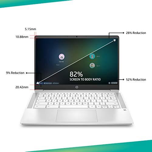 HP Chromebook 14a-na0002TU 14-inch Laptop (Celeron N4020/4GB/64GB SSD/Chrome OS/Integrated Graphics), Ceremic White