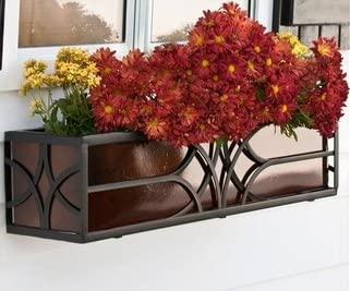 48 Bombing free shipping Inch Falling Under blast sales Water Window Box with Liner Tone Cage Bronze