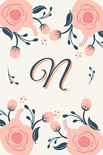 N: Monogram Letter N Dot Gird Notebook, Personalized Journal for Writing, Notes, Inspirational Goals and Planning, Bujo Planner, Best Gift for Women Teen Girls and Kids, Sized Conveniently 6x9 Inches