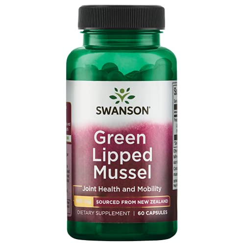 Swanson Green Lipped Mussel (Freeze Dried) New Zealand Joint Health Supplement 500 mg 60 Capsules