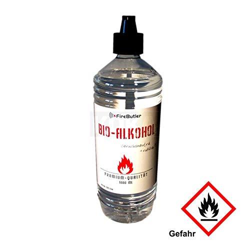 FireButler BioEthanol BioAlkohol für Kamine 1-Liter-Flasche