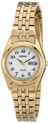 Seiko SUT118 - Reloj para Mujeres, Correa de Acero Inoxidable Color Plateado