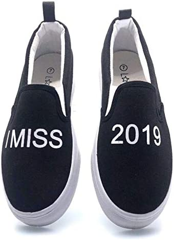 Love83 Women's Canvas Casual Slip-On I Miss 2019