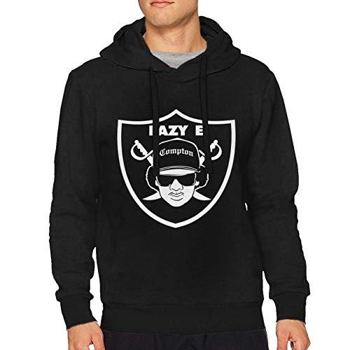 Sweatshirts Hoodies Eazy E Logo Man Hooded Comfortable Drawstring Long Sleeve Sweater Hip Hop Youth Hoody Shirts Black Small