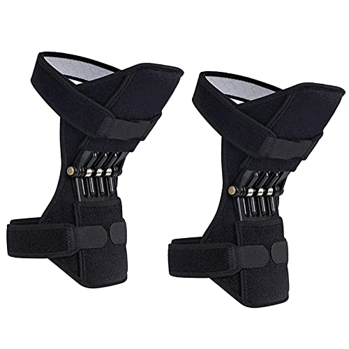 2 Pack Knee Brace for working out, Power Knee Brace Joint Support, Power Knee Stabilizer Pads, Protective Booster Gear with Powerful Springs for Men/Women Meniscus Tear Pain, Arthritis, Fitness, Sport
