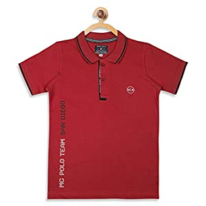 Monte Carlo Red Coloured Boys Cotton Blend t-Shirt 15 41O y3e4cML. SS300
