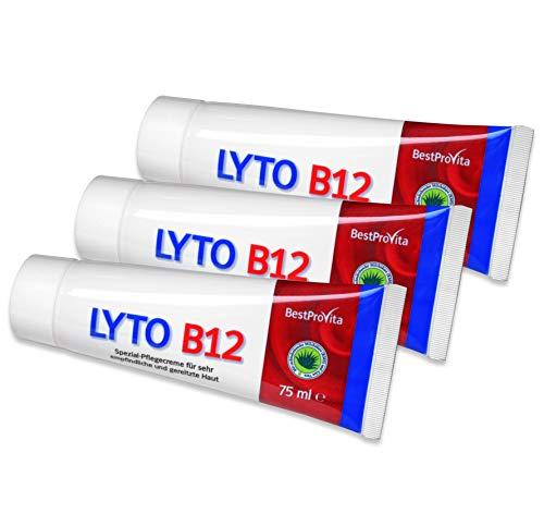 Bestprovita Lyto B12 Pflegecreme 75ml, bei Neurodermitis Juckreiz Schuppenflechte, Creme mit Vitamin B12, Grander-Wasser, ohne Kortison (3)