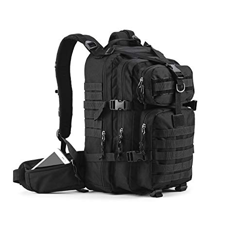 Gelindo Military Tactical Backpack, Hydration Backpack, Army Molle Bug-out Bag, School Bag, Small Rucksack for Hunting, Survival, Camping, Trekking, 35L