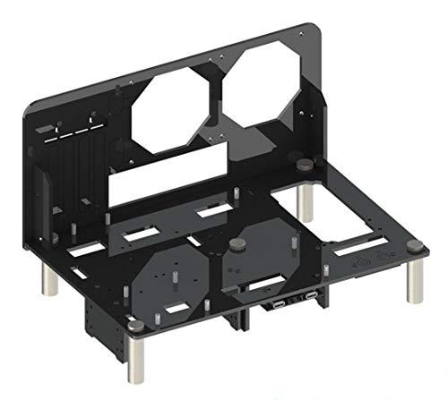 【BWH】PCオープンフレーム 透明 モッドベーススタンド PCケース DIY ケースブラケット M-ATX (タイプⅢ)