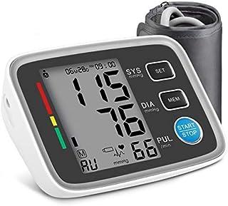 Tensiómetro de brazo digital, AlphagoMed Powered by Hizek Monitor de Presión Arterial para el Brazo Superior, con Automática de la Presión Arterial y pulso de frecuencia cardíaca detección