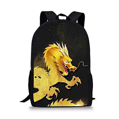 Cool Chinese Dragon Print Children School Book Bag Kids Printing Backpacks