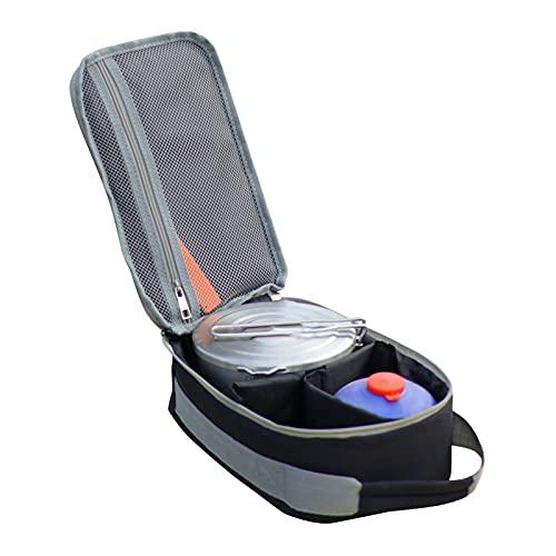 Bolsa de pícnic con asa, para utensilios de camping, para llevar cubiertos de viaje, práctico organizador de accesorios de picnic (no incluye vajillas)