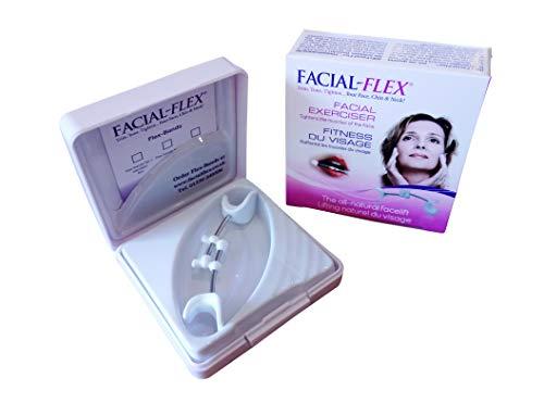 FACIAL-FLEX Ejercicio de tonificación facial para recortar el tono y apretar tu cara, barbilla y cuello para un aspecto más joven.