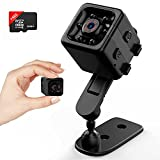 Mini Spy Camera Hidden Camera HD 1080P - Portable Small Nanny Cam with Night Vision and Motion Detection - Indoor Outdoor Tiny Security Surveillance Cam with 32GB TF Card for Home, Apartment, Office