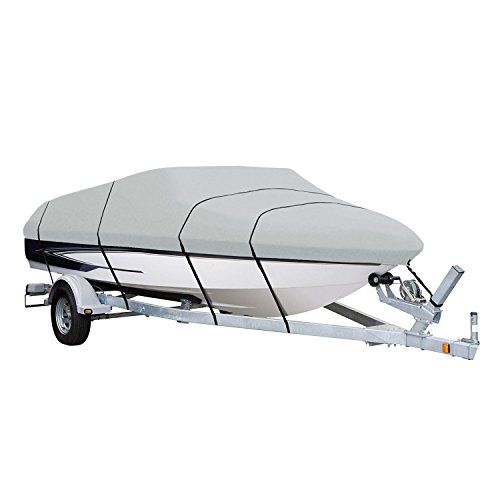 Amazon Basics V-Hull Runabout and Bass Boat Cover