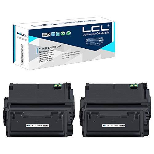 LCL Cartucho de Tóner Compatible 42A Q5942A (2 Negro) Reemplazo para HP Laserjet 4240 4240n 4250 4250n 4250tn 4250dtn 4250dtnsl 4350 4350n 4350tn 4350dtn 4350dtnsl