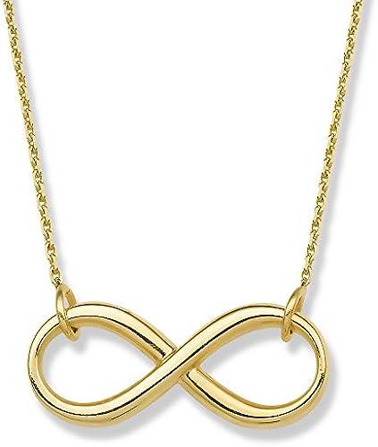 14  GelbGold side-ways Infinity Halskette Karabinerverschluss Verschluss 46cm